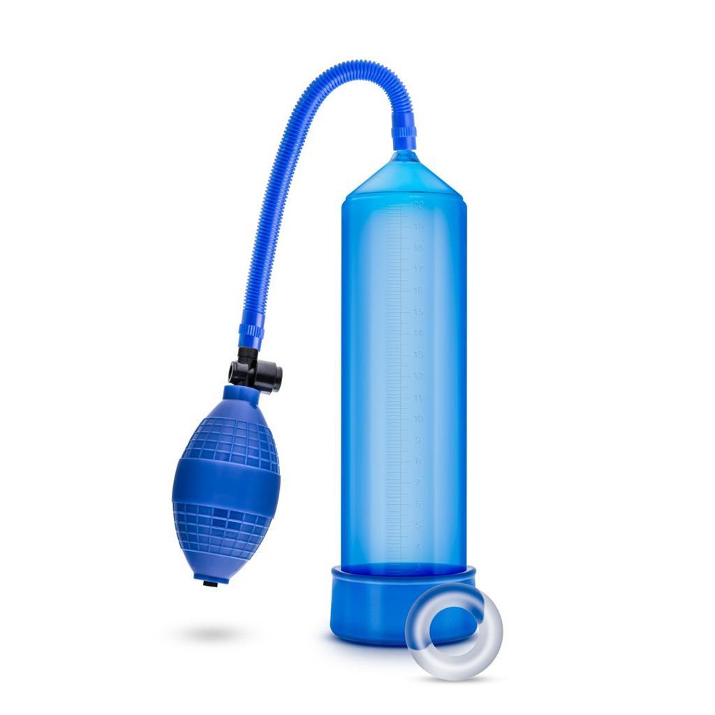 Синяя ручная вакуумная помпа Male Enhancement Pump