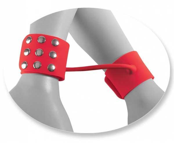 Силиконовые наручники FF ELITE - SILICONE CUFFS RED