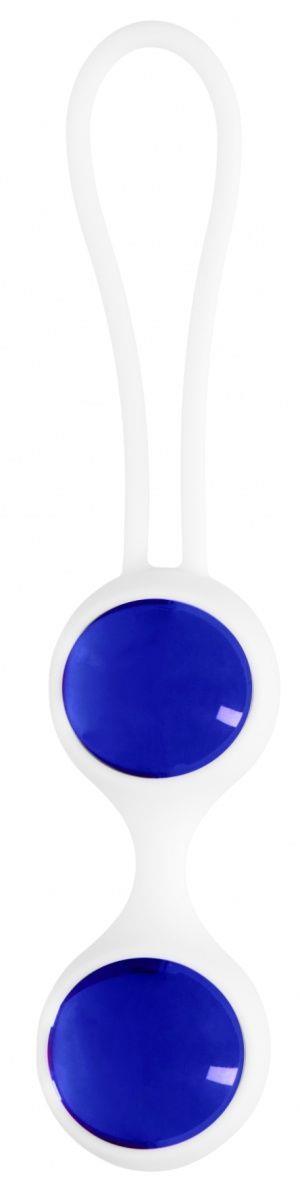 Синие вагинальные шарики Ben Wa Small в белой оболочке
