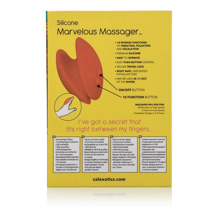 Оранжевый вибромассажер Mini Marvels Silicone Marvelous Massager