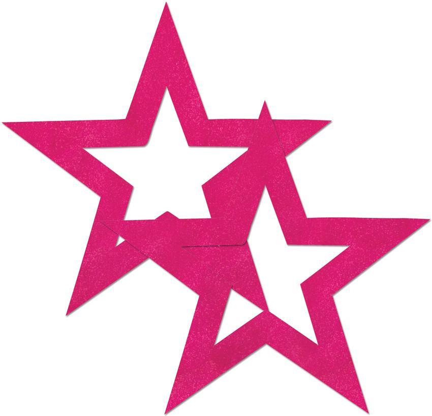 Розовые пестисы в форме звёзд