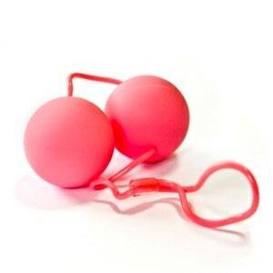 Розовые вагинальные шарики SILKY