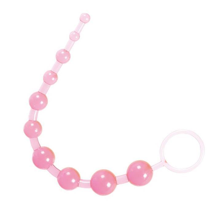 Розовые анальные шарики Thai Toy Beads