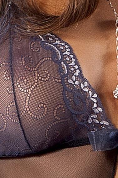 Тюлевая сорочка Ashley с разрезом от лифа