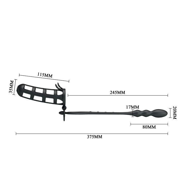 Насадка на пенис со съемным анальным стимулятором Hercules intence anal stimulation