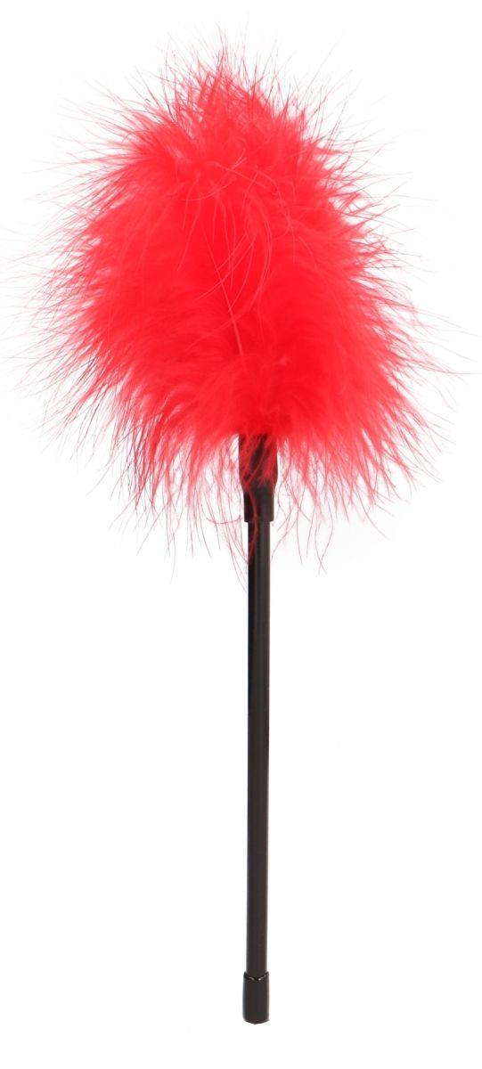 Красная пуховка Feather - 27 см.