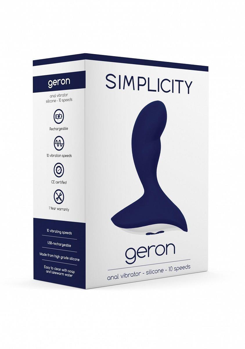 Синий анальный вибростимулятор Geron Anal Vibrator