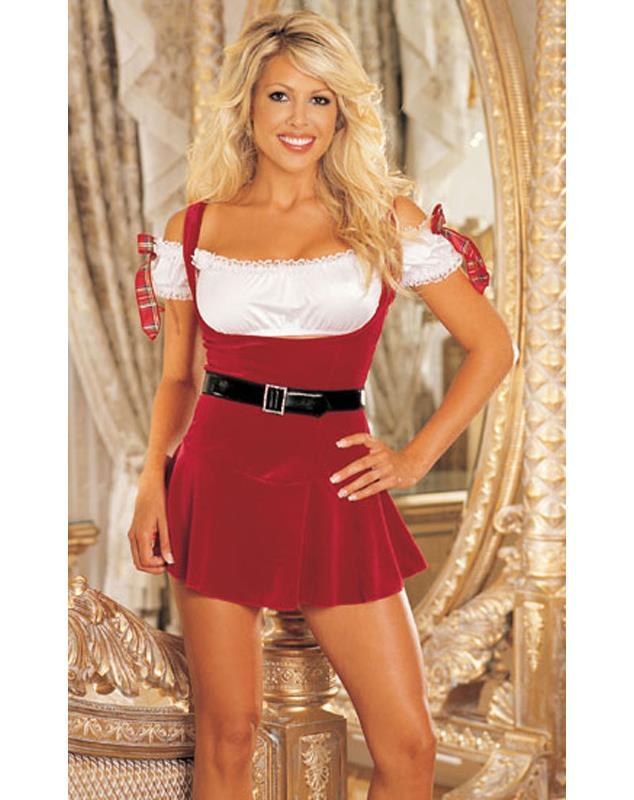 Наряд для подружки Санта Клауса