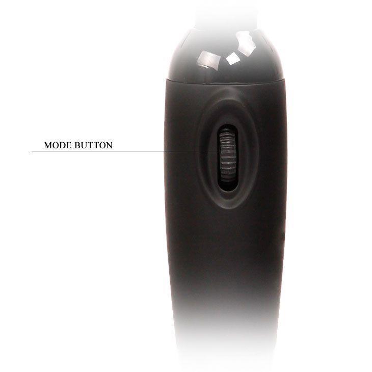 Черный вибромассажер с мощной вибрацией