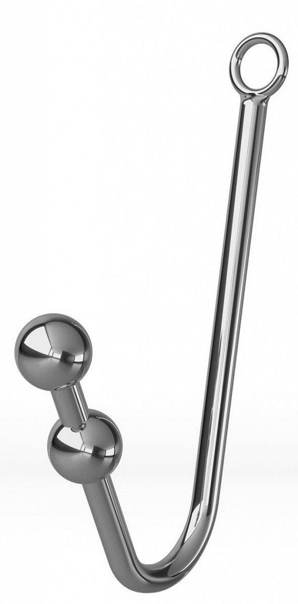 Анальный крюк с 2 шариками, фиксацией, ошейником и наручниками