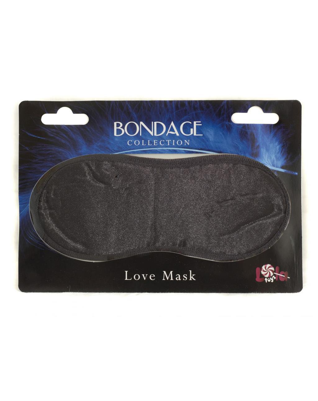 Чёрная маска на глаза BONDAGE LOVE MASK