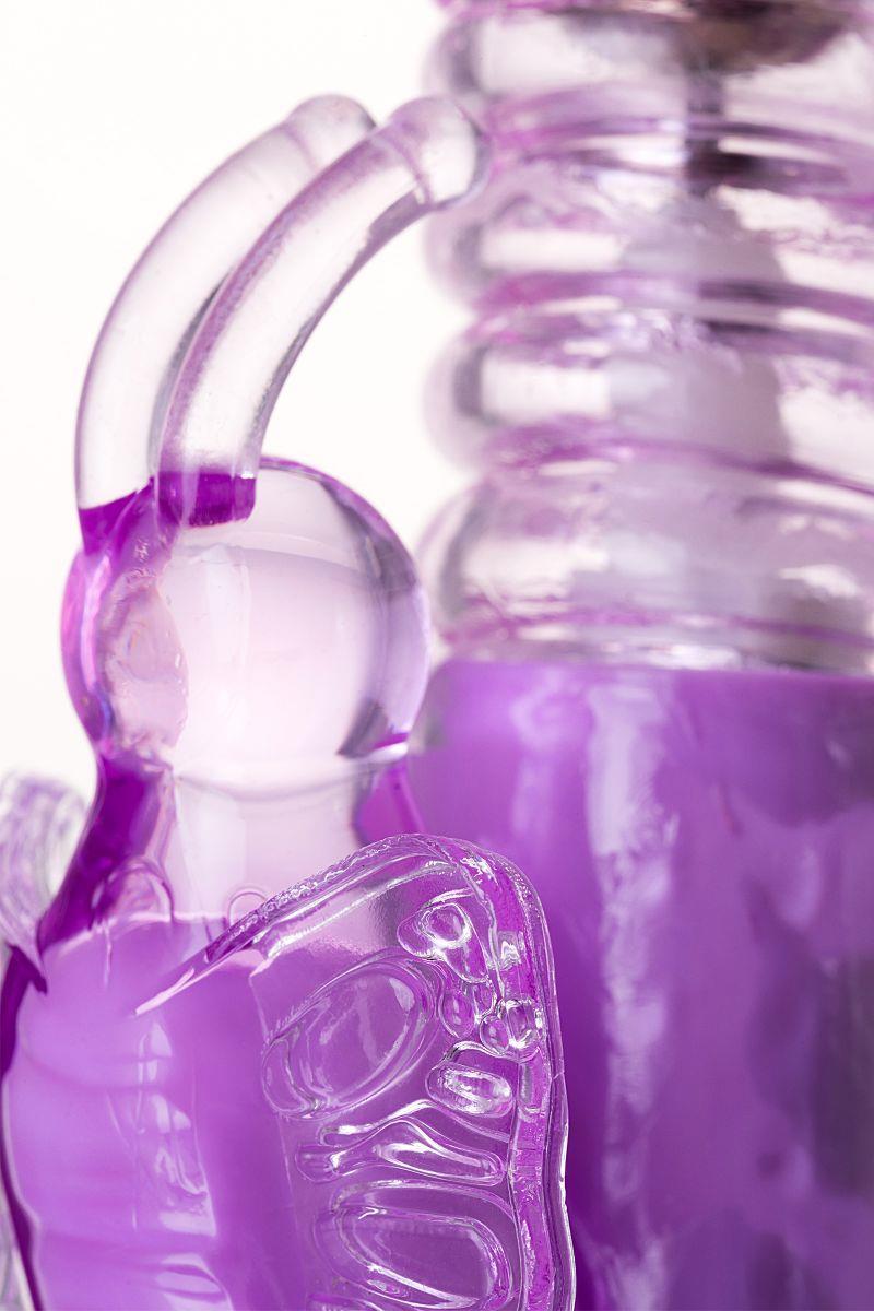 Фиолетовый хай-тек вибратор High-Tech fantasy с вращением бусин (24,5 см)