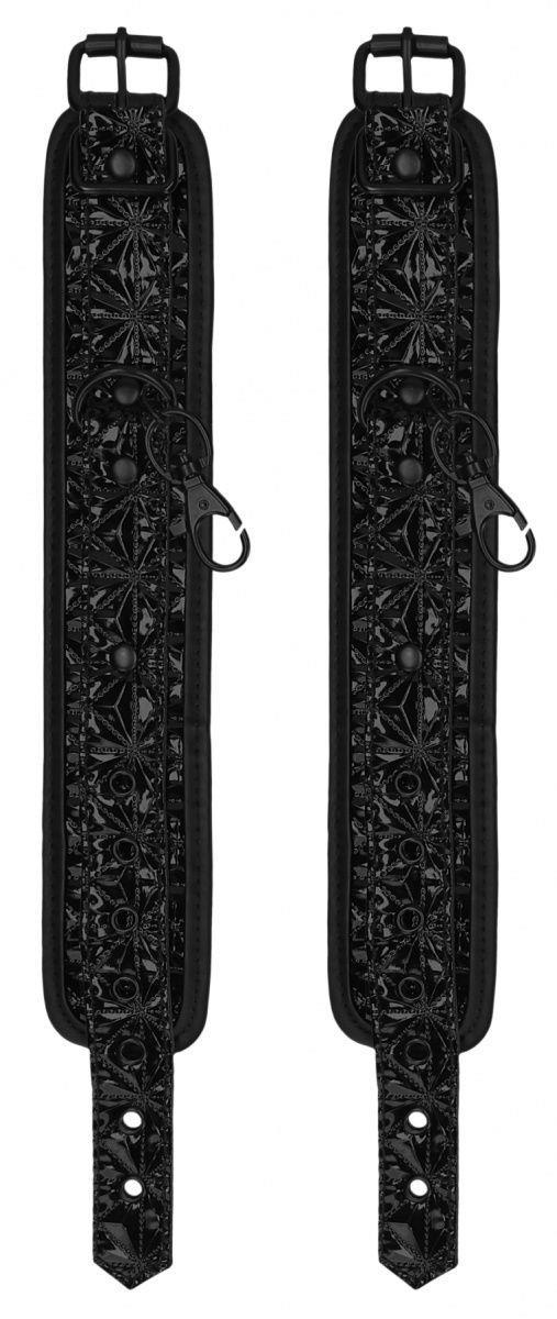 Черные поножи с распоркой Luxury Spreader Bar