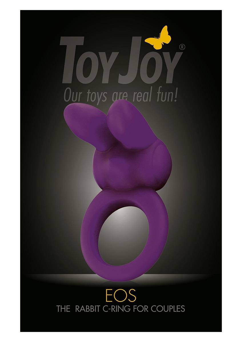 Фиолетовое эрекционное кольцо EOS THE RABBIT C-RING