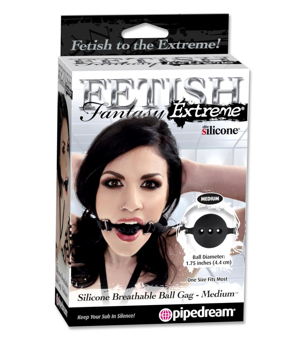 Силиконовый дышащий кляп Fetish Fantasy Silicone Medium Breathable Ball Gag