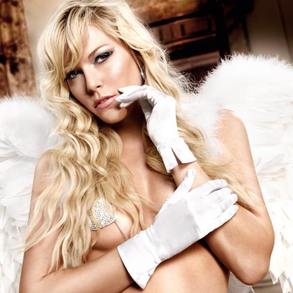 Белые сатиновые перчатки Back in Heaven