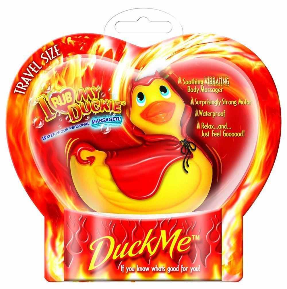 Вибратор утка-дьяволенок I Rub My Duckie Red Devil Travel Size