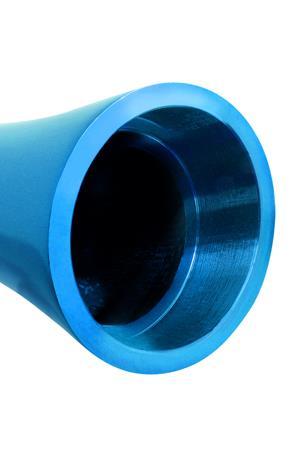 Голубой аллюминиевый вибратор BLUE SMALL (7,5 см)