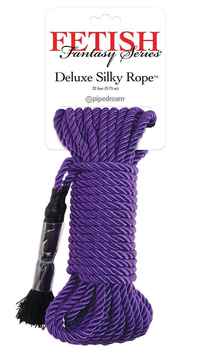 Фиолетовая веревка для фиксации «Deluxe Silky Rope» (9,75 м)