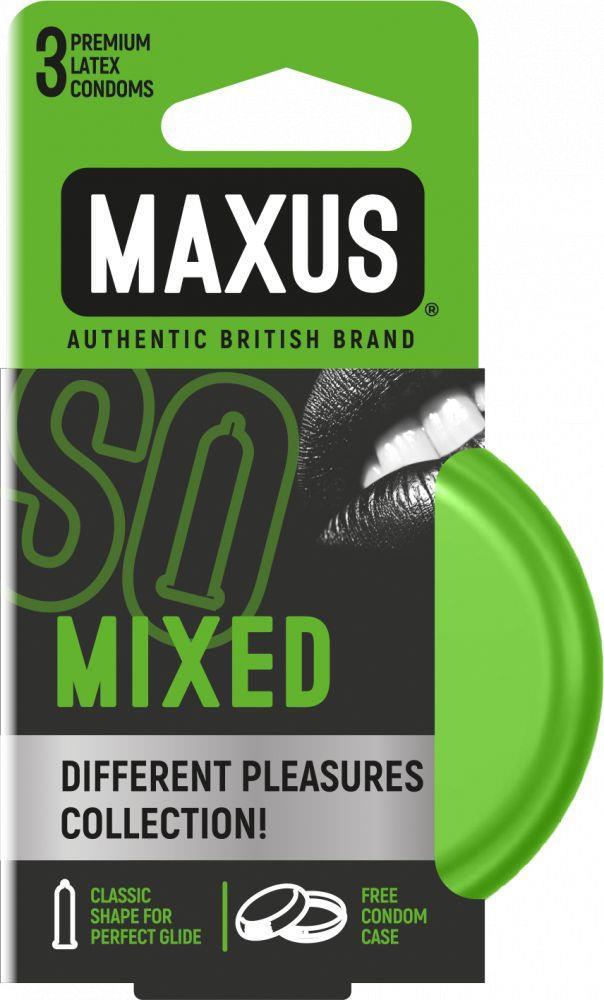 Презервативы MAXUS Mixed в железном кейсе (3 шт)