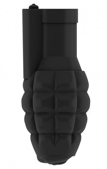 Чёрный мастурбатор-граната с вибрацией Stroker No.22
