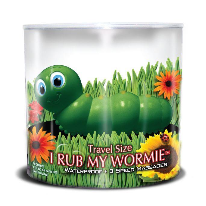 Вибратор-гусеница I Rub My Wormie Green