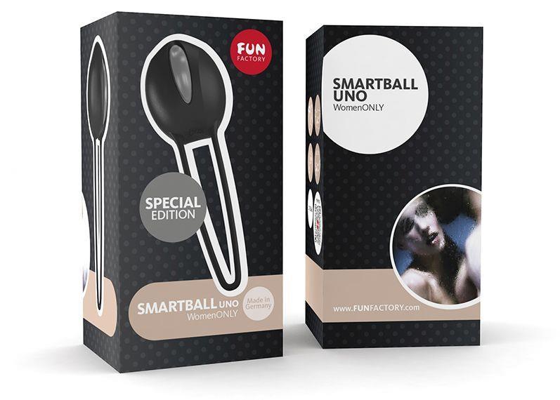 Чёрно-серый вагинальный шарик SMARTBALLS UNO