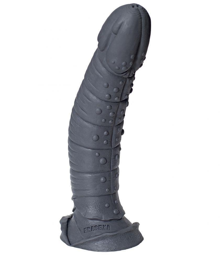 Серый фаллоимитатор Рыцарь - 35 см.