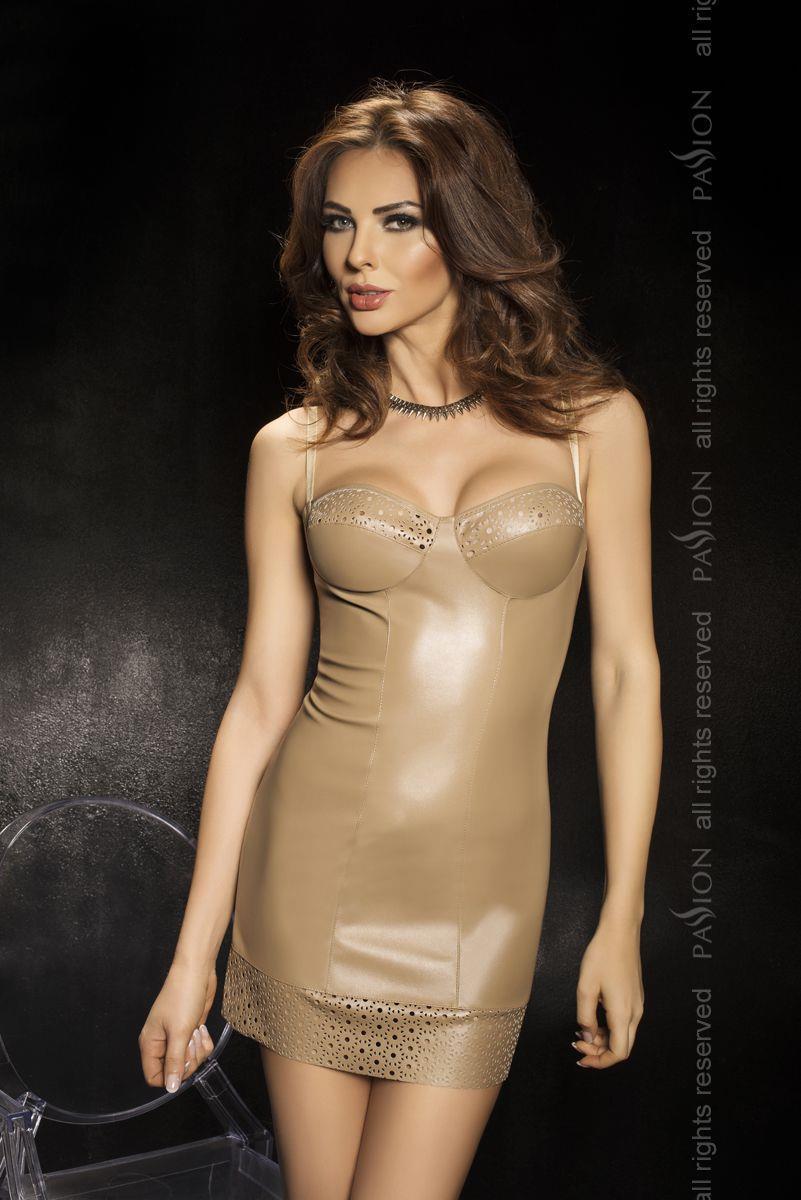 Обтягивающее платье с перфорированной полосой по подолу и лифу Oprah
