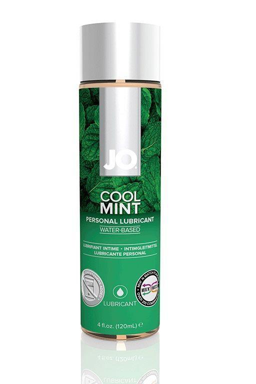 Лубрикант на водной основе с ароматом мяты JO Flavored Cool Mint H2O - 120 мл.