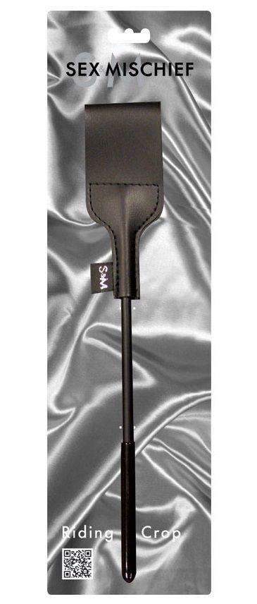 Чёрная шлёпалка Riding Crop - 43 см.