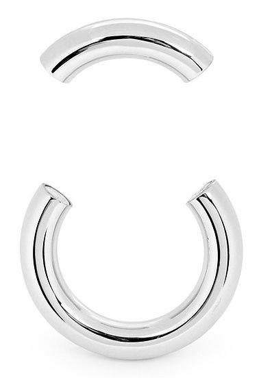 Серебристое среднее эрекционное кольцо на магнитах