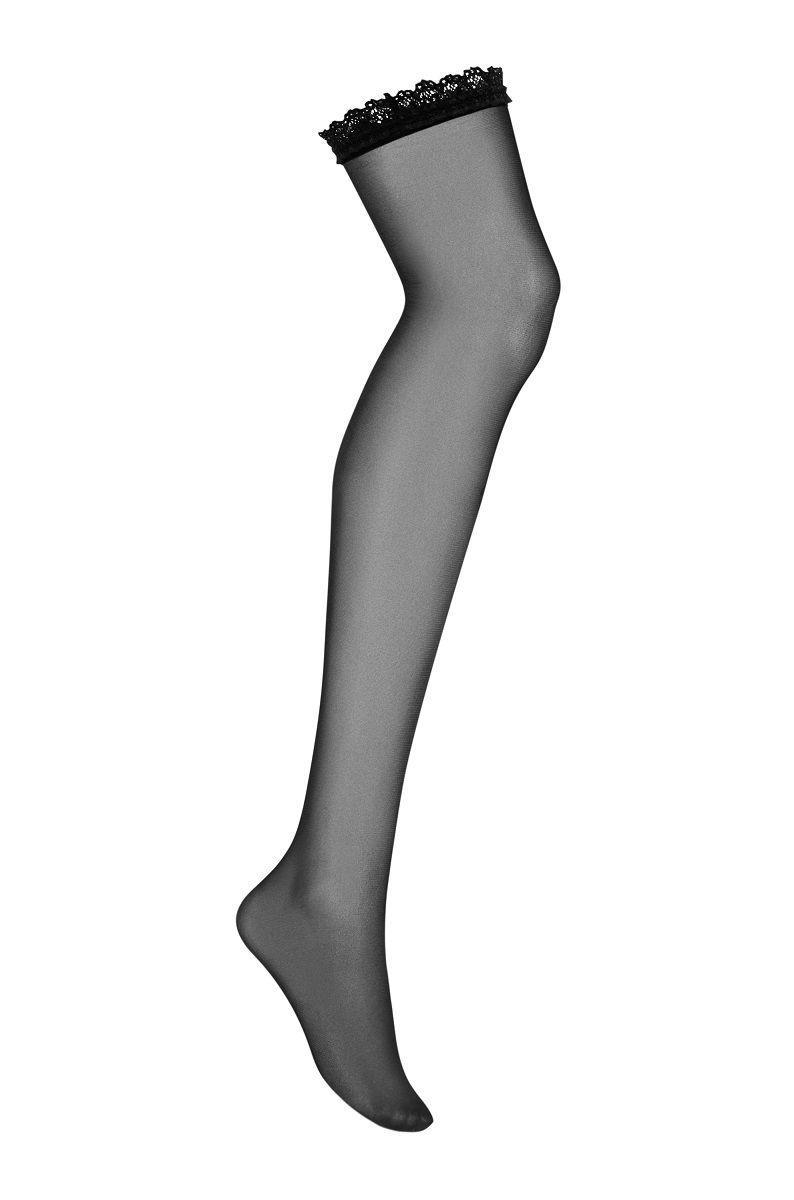 Чулки под пояс Slevika с узкой кружевной резинкой