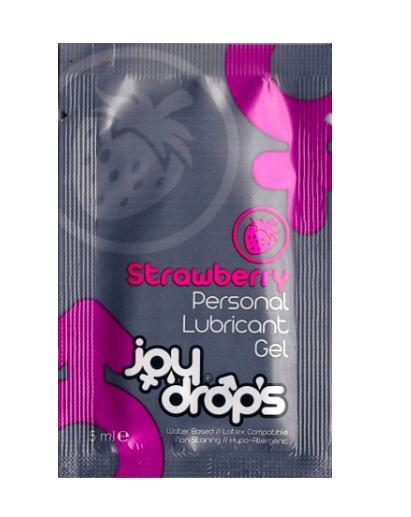 Пробник смазки на водной основе с ароматом клубники JoyDrops Strawberry (5 мл)
