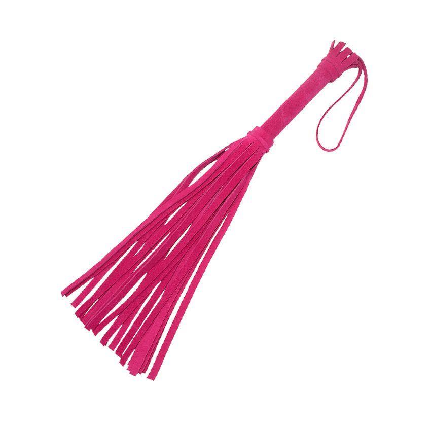 Розовая мини-плеть Королевский велюр (40 см)