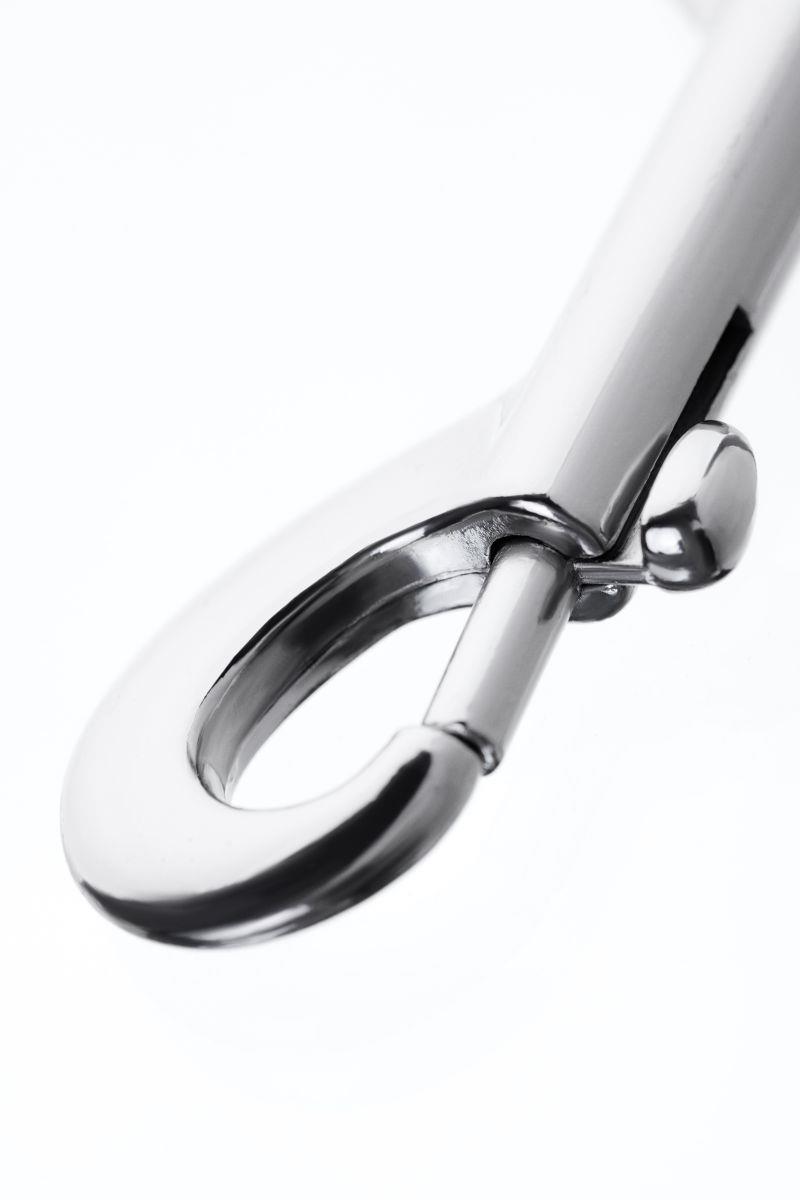 Серебристый двухсторонний карабин TOYFA Metal
