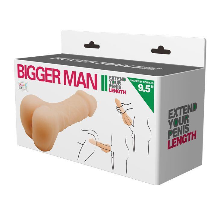 Компактный мастурбатор-насадка Bigger Man (21.50 см)
