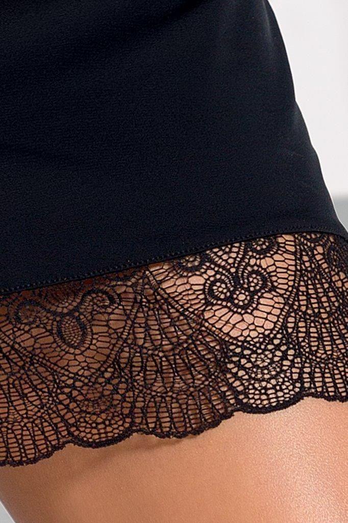 Облегающая сорочка Alina с фигурным подолом сзади