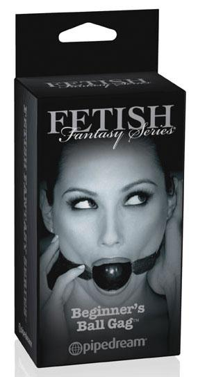 Черный кляп-шар «Fetish Fantasy Series Limited Edition Beginner's Ball Gag»