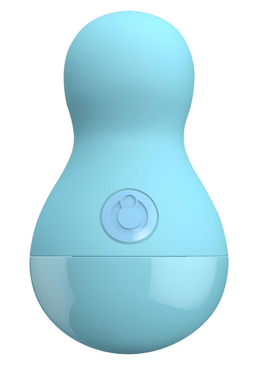 Нежно-голубой вибростимулятор COCO BODY - 9 см.