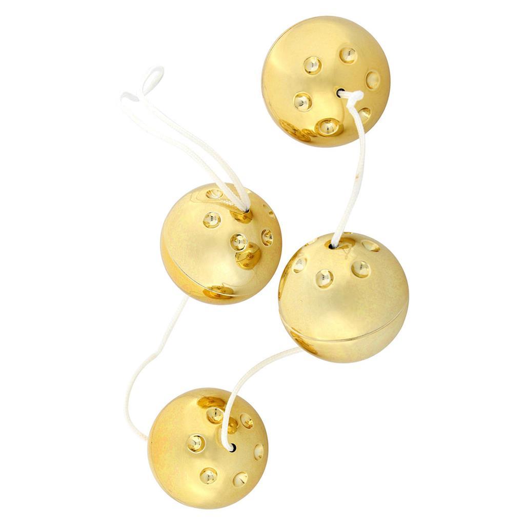 Четыре золотистых вагинальных шарика (3,5 см)