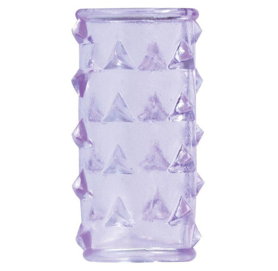 Фиолетовая насадка на пенис BASICX TPR SLEEVE