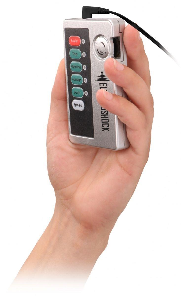 Темно-серая анальная пробка с электростимуляцией E-Stim (11,2 см)