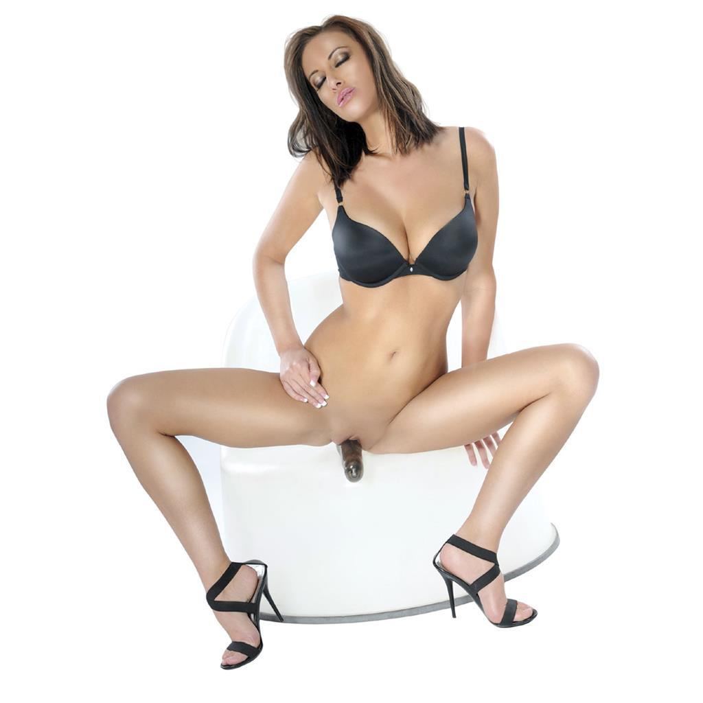 Безремневой страпон с вибратором Vibrating Strapless Strap-On (17 см)