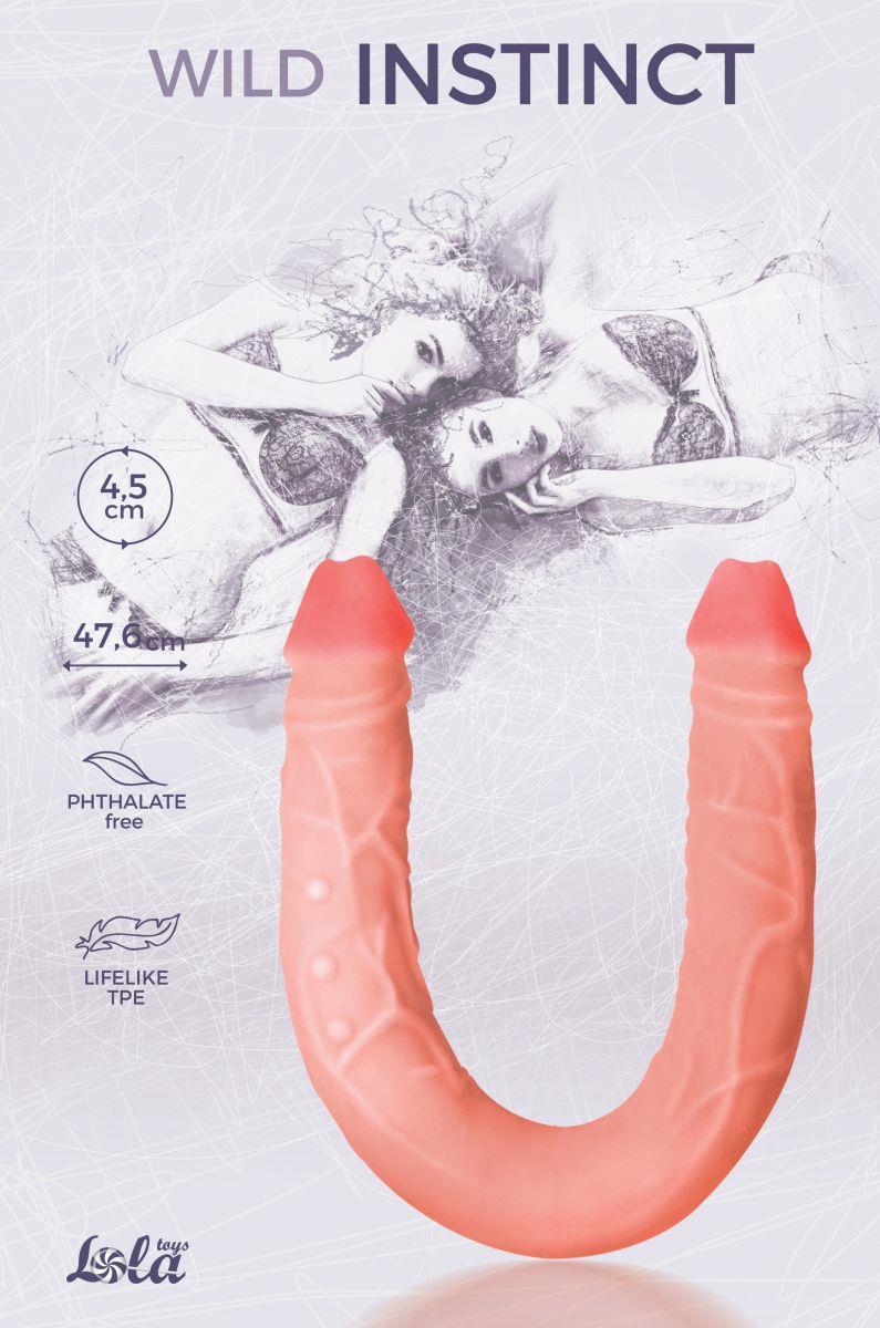 Двусторонний фаллоимитатор Wild Instinct (47,6 см)