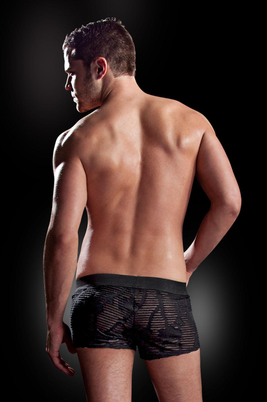 Ажурные черные боксеры с поясом S-M