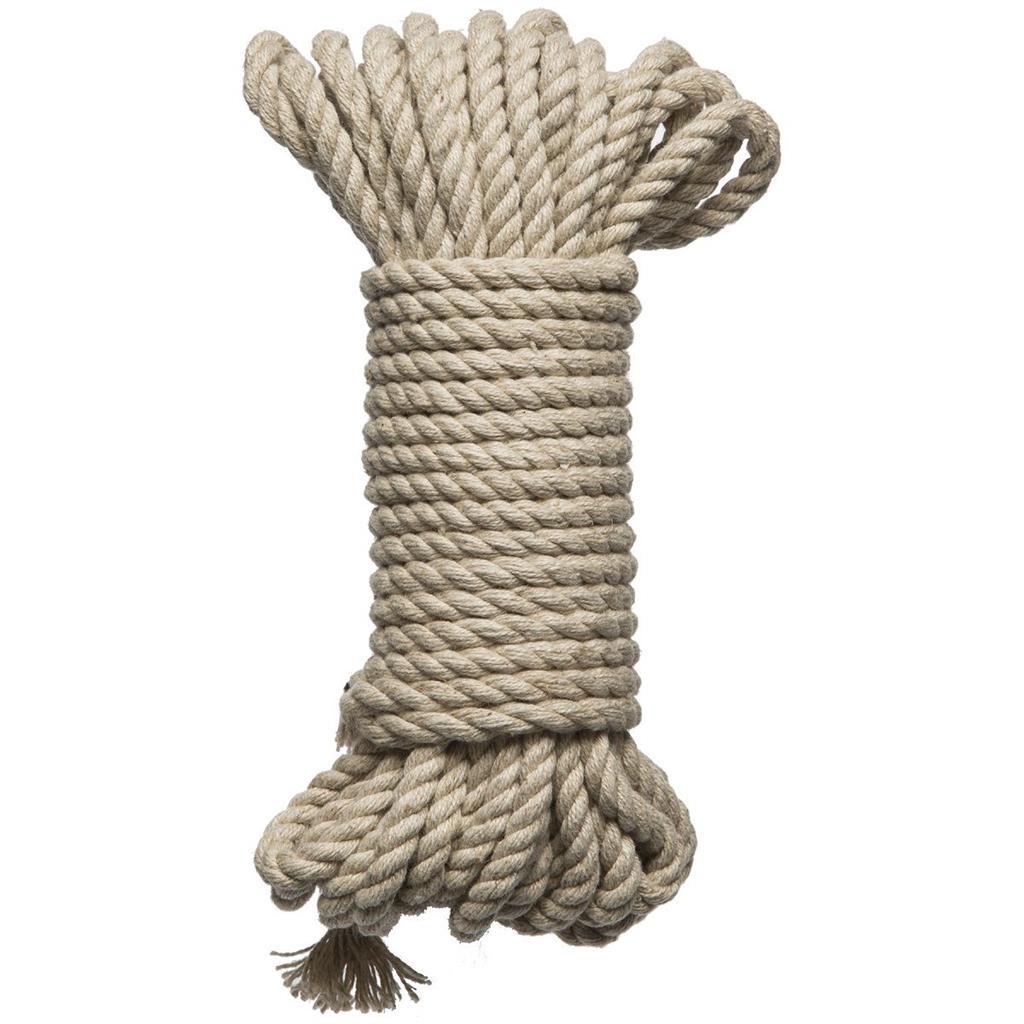 Бондажная пеньковая верёвка Kink Bind Tie Hemp Bondage Rope 30 Ft - 9,1 м.