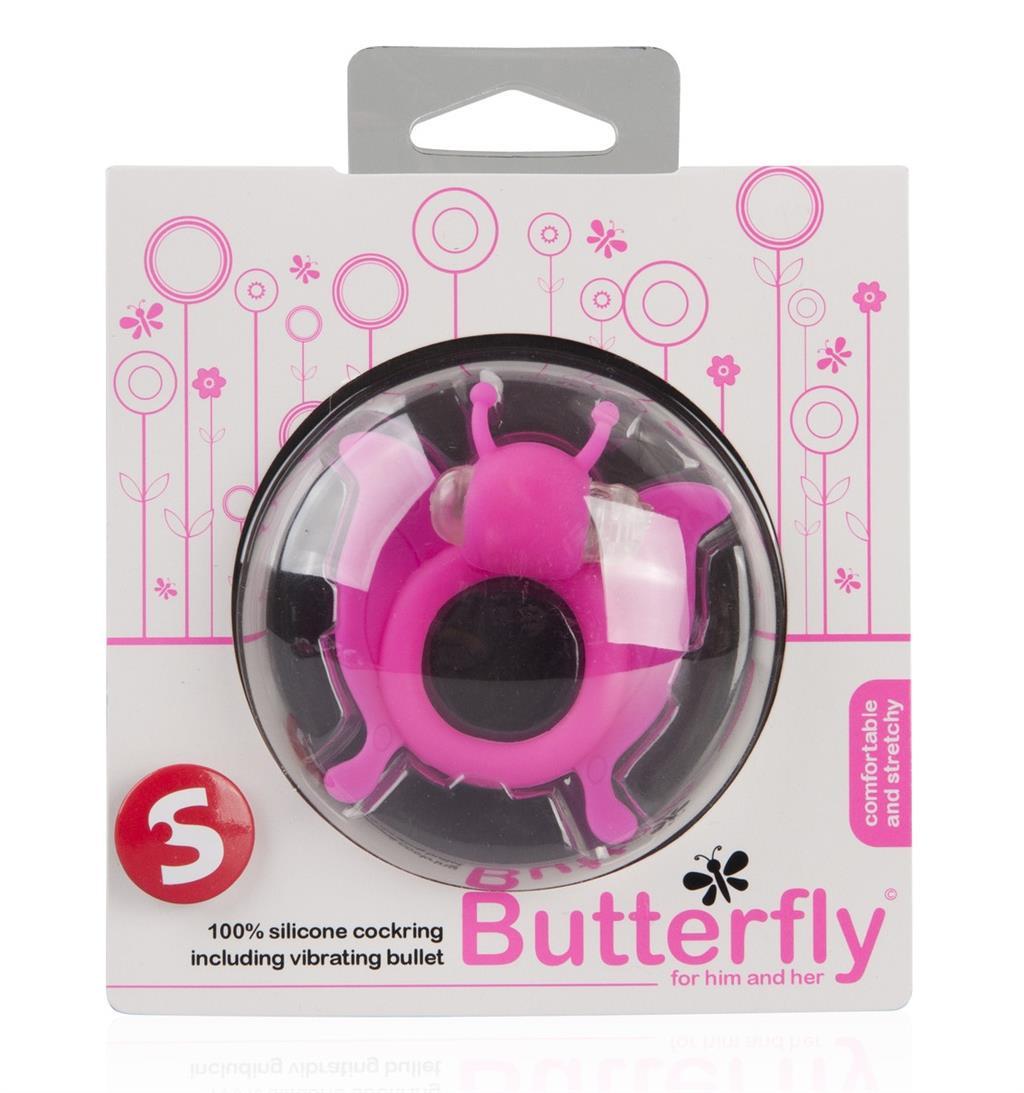 Розовая вибронасадка-бабочка Butterfly
