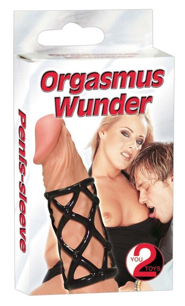 Чёрная насадка-сетка на пенис Orgasmus Wunder