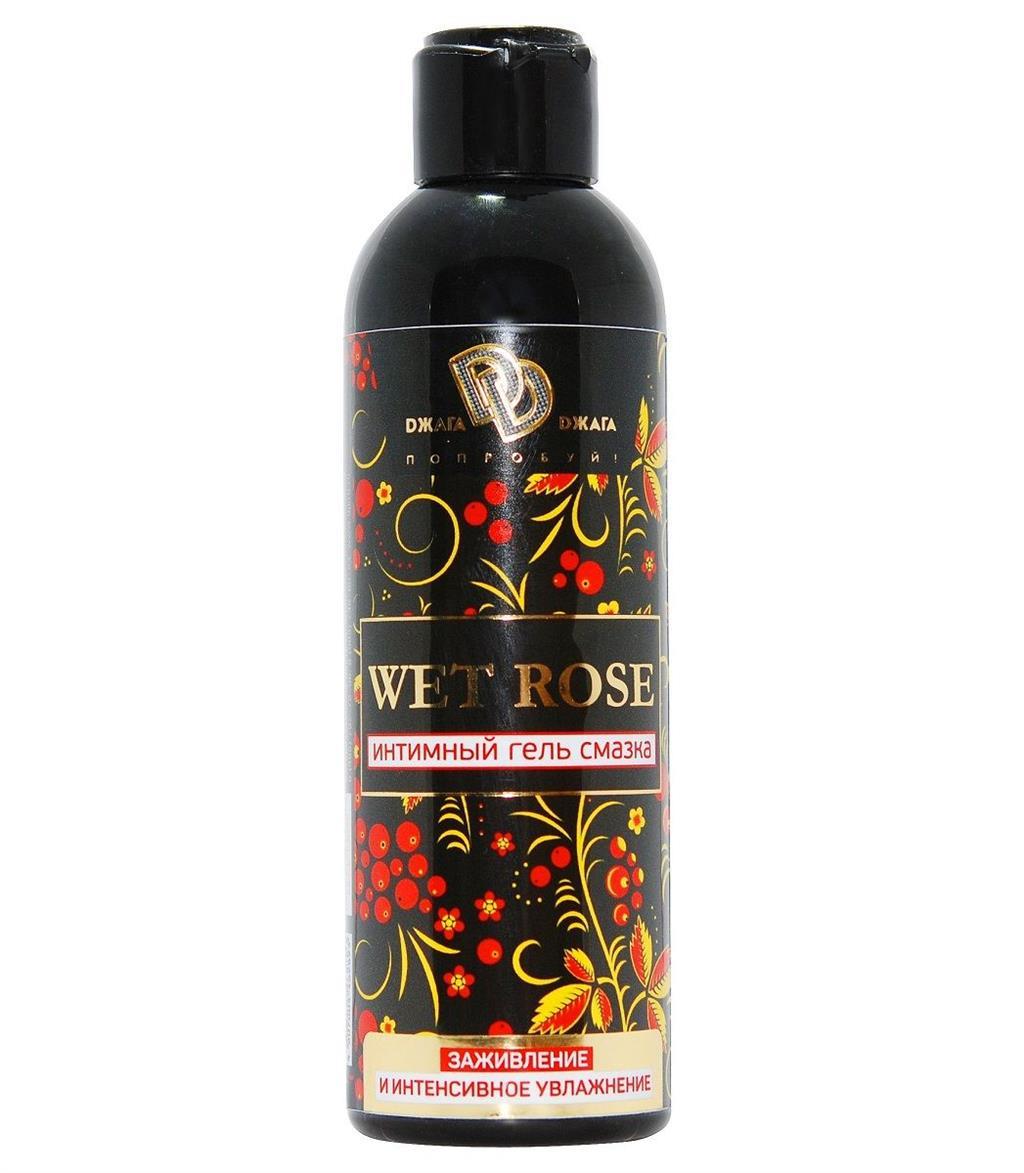 Интимный гель-смазка WET ROSE с заживляющим эффектом (200 мл)